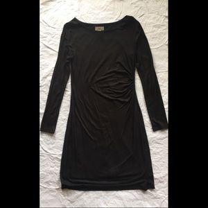 NWOT Loft Outlet Long Sleeve Black Dress, size S